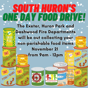South Huron's One Day Food Drive!