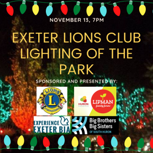Exeter Lions Club Lighting of the Park