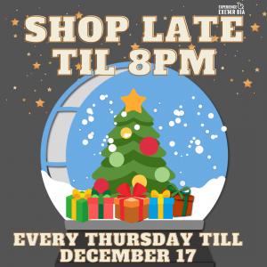 Shop Late Till 8pm